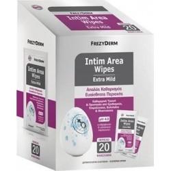 Frezyderm Intim Area Wipes pH4 Μαντηλάκια Καθαρισμού...
