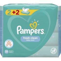 Μωρομάντηλα Pampers Fresh 208τεμ (4x52τεμ) 2+2 ΔΩΡΟ