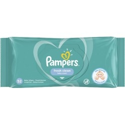 Pampers Fresh Clean Μωρομάντηλα 52 τεμ