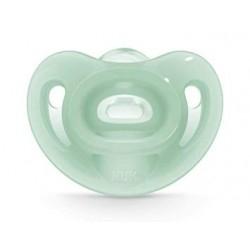 Nuk Sensitive Πιπίλα 100% Σιλικόνης 6-18m Πράσινο