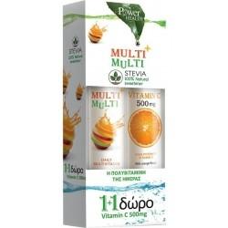 Power Health Multi+multi 24s Stevia + Δωρο Vitamin C...