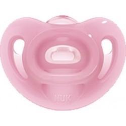 Nuk Sensitive Πιπίλα Σιλικόνης Ροζ με Θήκη 0-6 Μηνών...