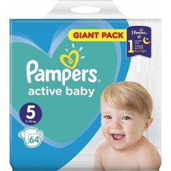 Pampers Πάνες Active Baby Giant Pack Νο 5 (11-16kg)...