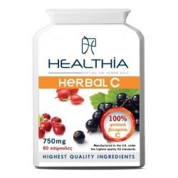 Healthia Herbal C 750mg Συμπλήρωμα με 100% Φυσική...