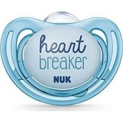 Nuk Freestyle Πιπίλα Σιλικόνης Heartbreaker Μπλε 6-18m