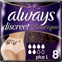 Always Discreet Boutique Pants Plus Εσώρουχα Large 8τμχ